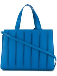 Max Mara Pleated Tote Bag Blue