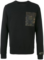 Hydrogen Contrast Patch Sweater Men Cotton Xl Black