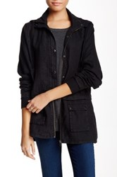 Michael Stars Linen Parka Jacket Black