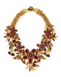 Jose And Maria Barrera Floral Garland Statement Necklace Multi