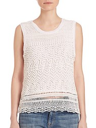 Generation Love Izzy Lace Overlay Top White