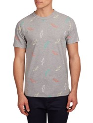 Hymn School Shark Graphic T Shirt Grey