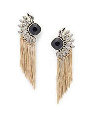 Catherine Malandrino Moxie Chain Fringe Drop Earrings Gold