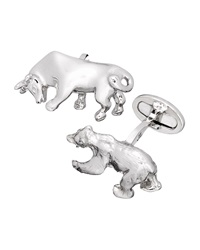 Jan Leslie Bull And Bear Cuff Links