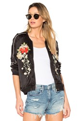 Blank Nyc Embroidered Bomber Jacket Black