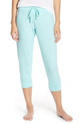 Women's Make Model Cozy Brushed Hacci Jogger Pants Teal Splash