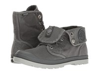 Palladium Baggy Low Lp Turbulence High Rise Women's Lace Up Boots Gray