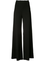 Getting Back To Square One Wide Leg Trousers Women Spandex Elastane Viscose M Black
