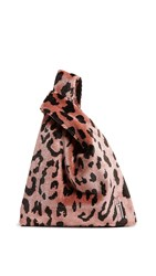 Hayward Venetian Brocade Mini Shopper Tote Pink Leopard