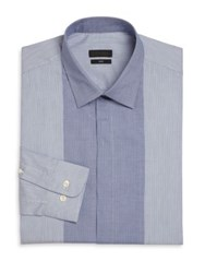 Z Zegna Slim Fit Check And Striped Dress Shirt