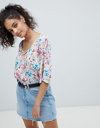 Rock And Religion Floral Blouse White Floral