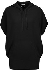 Vince Oversized Cashmere Hooded Sweater Black