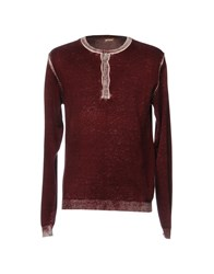 Galliano Sweaters Maroon