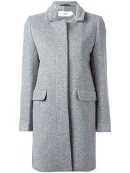 Closed Single Breasted Midi Coat Grey