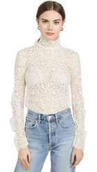 Edition10 Lace High Neck Blouse Lambs Wool