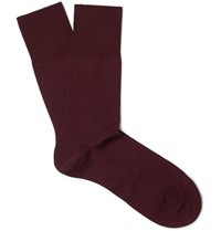 Falke Airport Melange Virgin Wool Blend Socks Burgundy