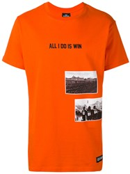 Les Artists Art Ists 'All I Do Is Win' T Shirt Men Cotton S Yellow Orange