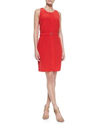 Magaschoni Sleeveless Button Front Dress Women's