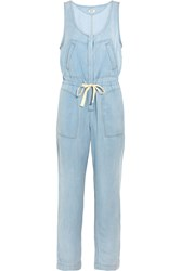 L'agence Chambray Jumpsuit Blue