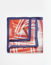 Vivienne Westwood Check Pocket Square Orange