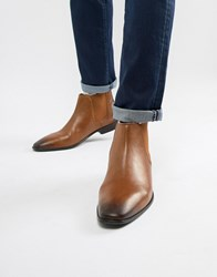 Kg By Kurt Geiger Leather Chelsea Boots Tan