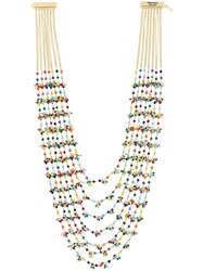 Rosantica Layered Long Necklace Metallic