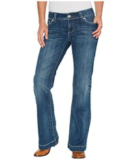 Stetson Grey W Chevron Back Pocket Blue Women's Jeans