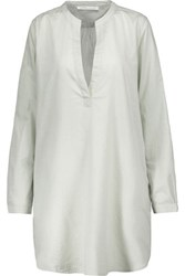 Yummie Tummie By Heather Thomson Cotton Nightshirt Light Gray