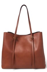 Polo Ralph Lauren Lennox Leather Tote Brown Saddle