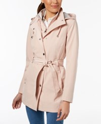 Nautica Belted Hooded Raincoat Dusty Pink
