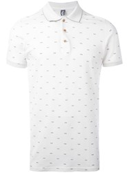 Fefe Sunglasses Print Polo Shirt White