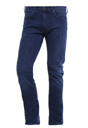 Lee Luke Straight Leg Jeans Stone Rise Dark Blue Denim
