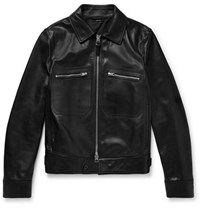 Tom Ford Leather Jacket Black