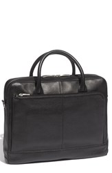 Bosca Men's Slim Leather Briefcase