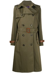 Ralph Lauren Collection Belted Double Breasted Silk Trench Coat 60
