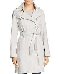 Vince Camuto Asymmetric Front Belted Trench Coat Feather