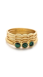Madewell Catalina Stacking Rings Vintage Gold