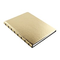 Filofax A5 Saffiano Metallic Notebook Gold