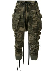 Unravel Project Camouflage Tapered Trousers Green