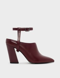 Charles And Keith Two Way Pointed Mules Burgun