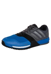 Adidas Performance Crazytrain Boost Cushioned Running Shoes Iron Metal Bright Royal Grey