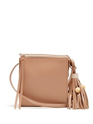 Elizabeth And James Sara Leather Cross Body Bag Light Tan