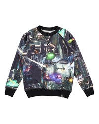 Molo Long Sleeve Romeo Sci Fi City Jersey Tee Black