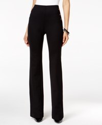 Alfani Mariner Knit Straight Leg Trousers Only At Macy's Deep Black