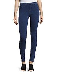 Hue Blended Cotton Leggings Blue