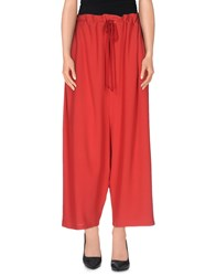 M Missoni Trousers 3 4 Length Trousers Women Red
