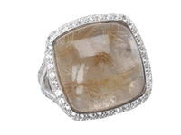Delatori Golden Rutile And White Topaz Ring 20 02 P424 34