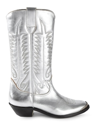 Golden Goose Deluxe Brand Patterned Cowboy Boots Metallic