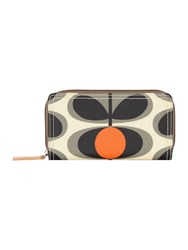 Orla Kiely Oval Stem Zip Around Purse Grey