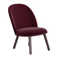 Normann Copenhagen Ace Lounge Chair Velour Dark Red